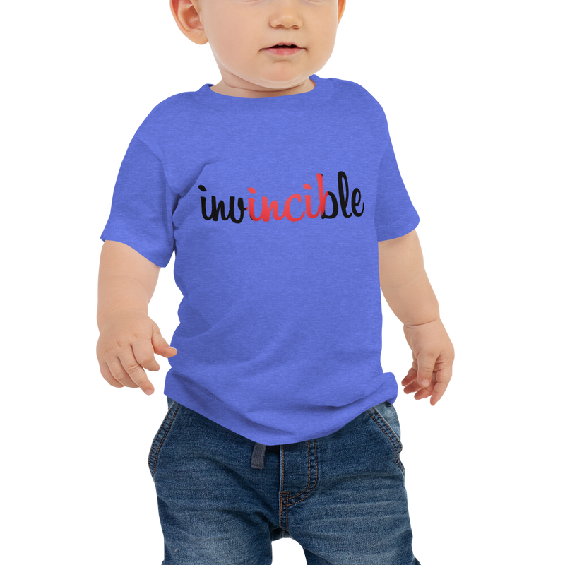 Invincible017 Bella + Canvas 3001B Baby Jersey Short Sleeve Tee with Tear Away Label