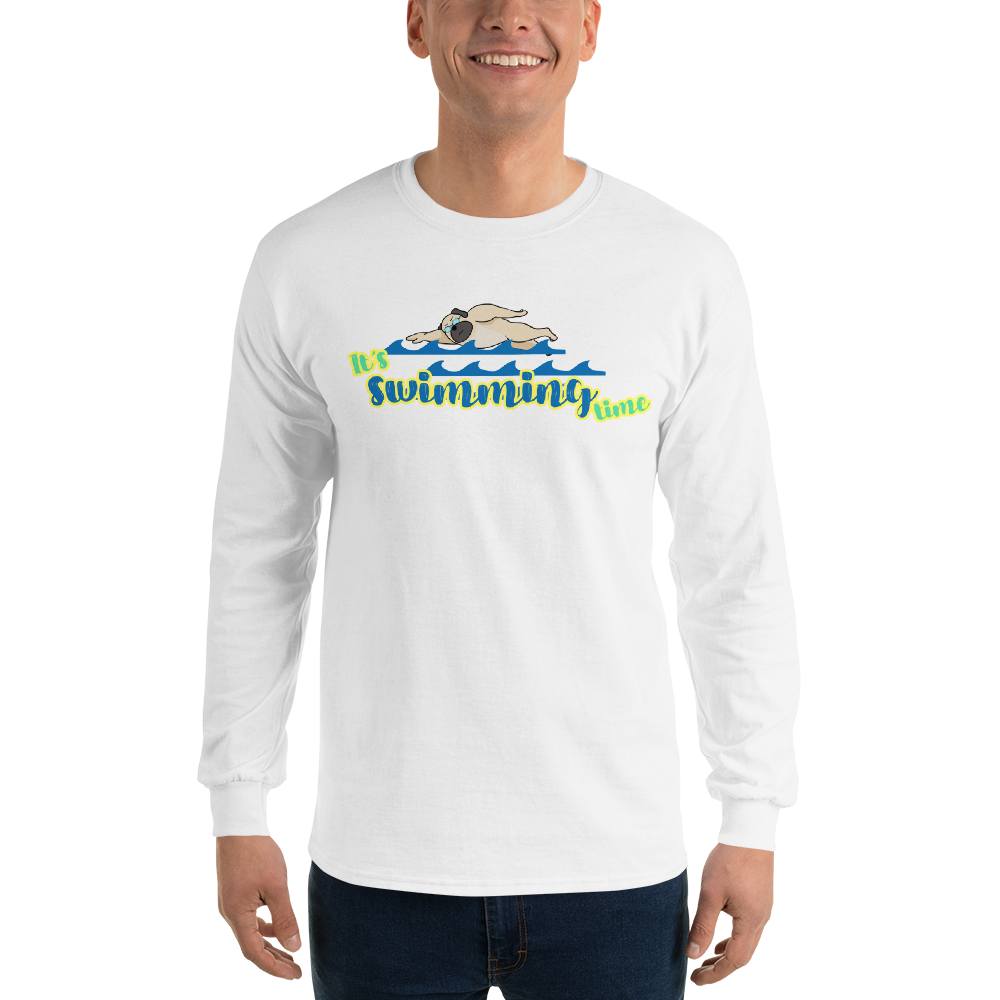 It's Swimming Time02 Gildan 2400 Ultra Cotton Long Sleeve T-Shirt