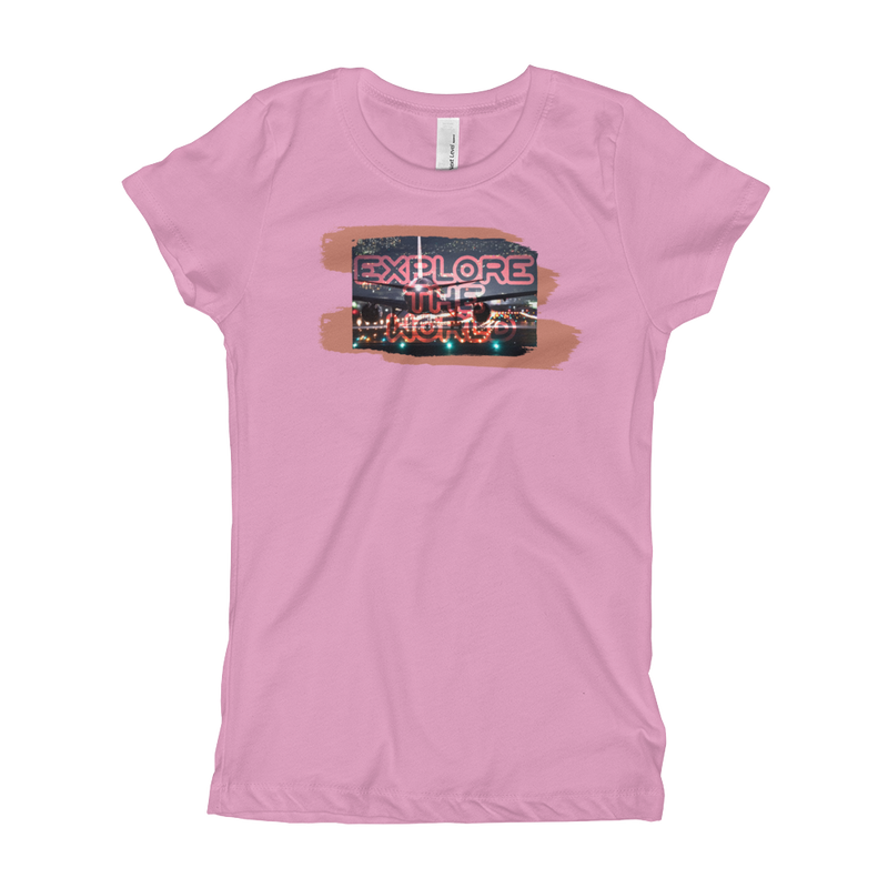 Explore The World0026 Next Level 3710 Girl's The Princess Tee with Tear Away Label