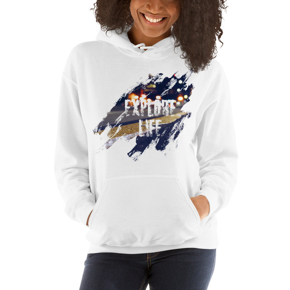 Explore Life005 Gildan 18500 Unisex Heavy Blend Hooded Sweatshirt