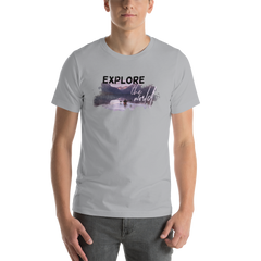 Explore The World006 Bella + Canvas 3001 Unisex Short Sleeve Jersey T-Shirt with Tear Away Label
