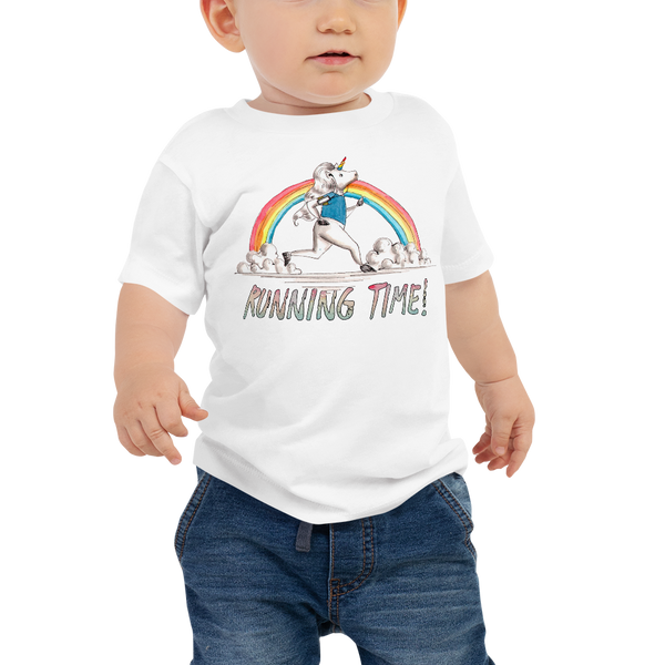 It's running time01 Baby Jersey Short Sleeve Tee