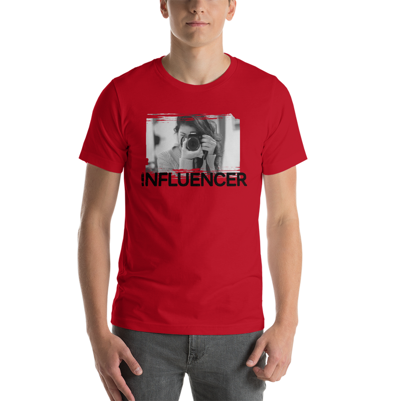Influencer0058 Bella + Canvas 3001 Unisex Short Sleeve Jersey T-Shirt with Tear Away Label