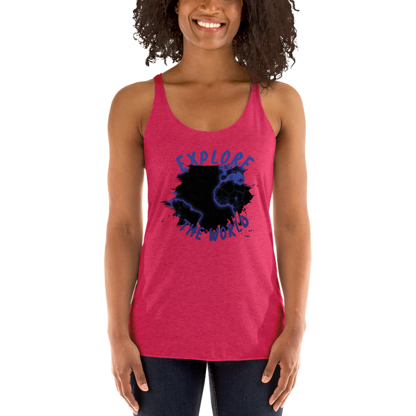 Explore The World0010 Next Level 6733 Ladies' Triblend Racerback Tank