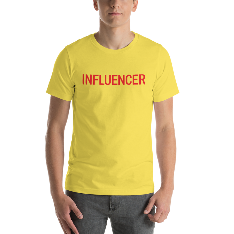 Influencer00172  Bella + Canvas 3001 Unisex Short Sleeve Jersey T-Shirt with Tear Away Label