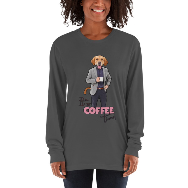 Its Coffee Time40 American Apparel 2007 Unisex Fine Jersey Long Sleeve T-Shirt Comfy style