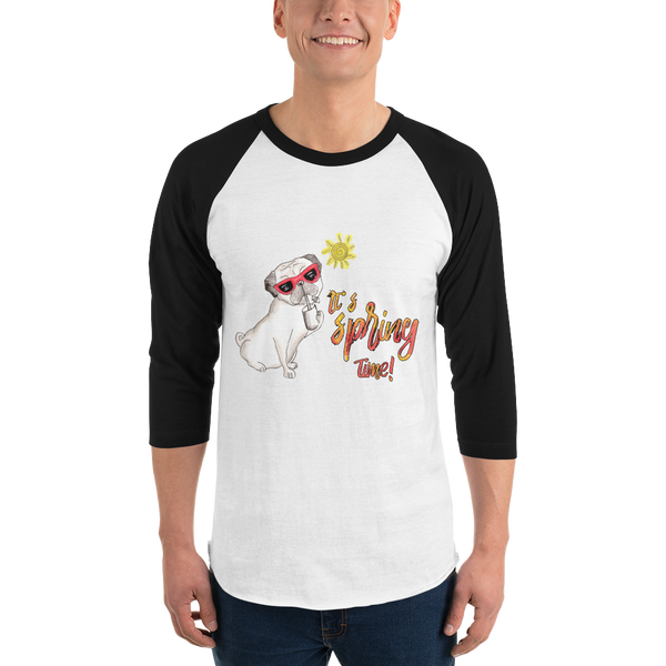 It's Spring Time24 Tultex 245 Unisex Fine Jersey Raglan Tee w/ Tear Away Label