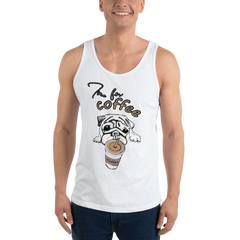 It's Coffee Time057 Bella + Canvas 3480 Unisex Jersey Tank with Tear Away Label
