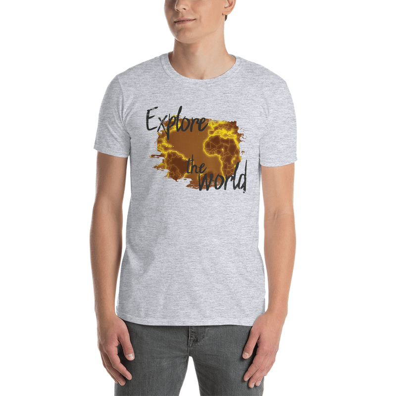 Explore The World0017 Gildan 64000 Unisex Softstyle T-Shirt with Tear Away Label - libitalux
