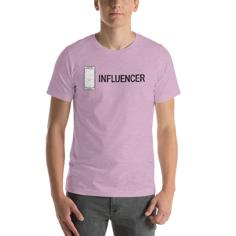 Influencer00166 Bella + Canvas 3001 Unisex Short Sleeve Jersey T-Shirt with Tear Away Label