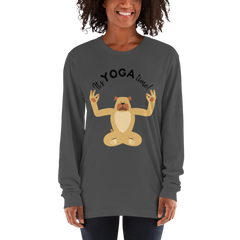 It's Yoga Time053 American Apparel 2007 Unisex Fine Jersey Long Sleeve T-Shirt Comfy style