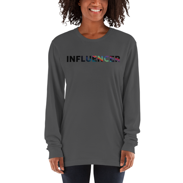 Influencer55 American Apparel 2007 Unisex Fine Jersey Long Sleeve T-Shirt Comfy style