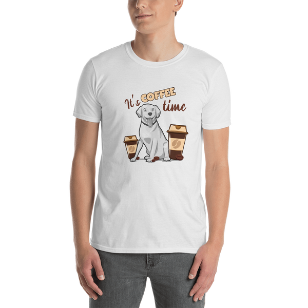 It's coffee time042 Gildan 64000 Unisex Softstyle T-Shirt with Tear Away Label