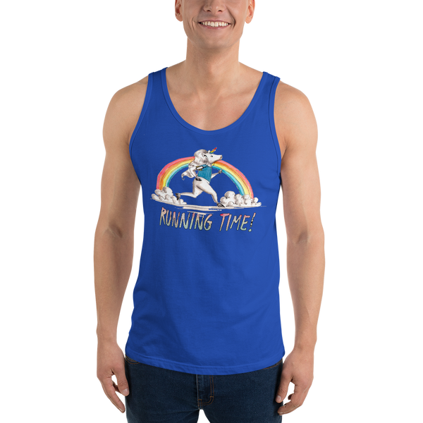 It's Running Time01 Bella + Canvas 3480 Unisex Jersey Tank with Tear Away Label
