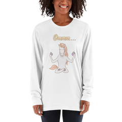 It's Yoga Time049 American Apparel 2007 Unisex Fine Jersey Long Sleeve T-Shirt Comfy style
