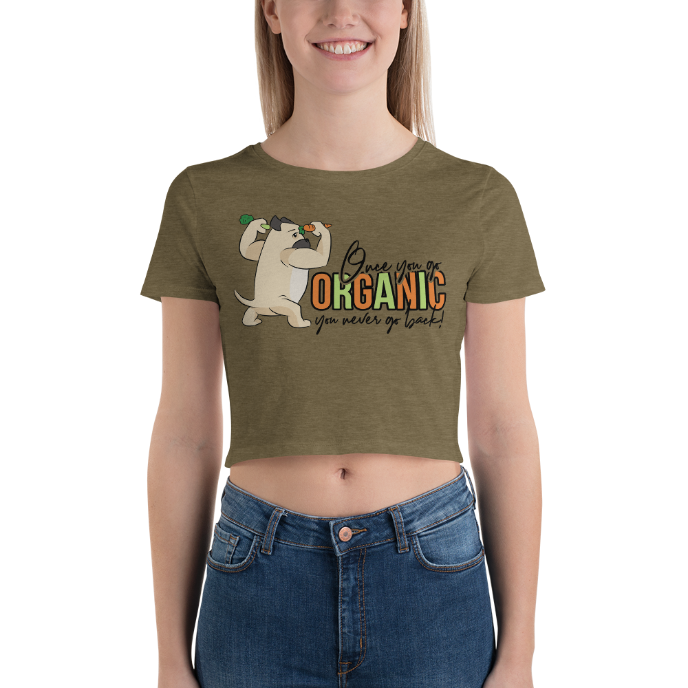 Go Organic005 Bella + Canvas 6681 Women's Crop Tee with Tear Away Label