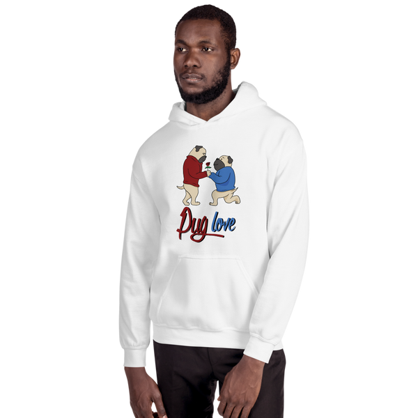 Pug Love07 Gildan 18500 Unisex Heavy Blend Hooded Sweatshirt