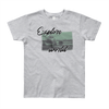 Explore The World0013 American Apparel 2201W Youth Fine Jersey Short Sleeve T-Shirt