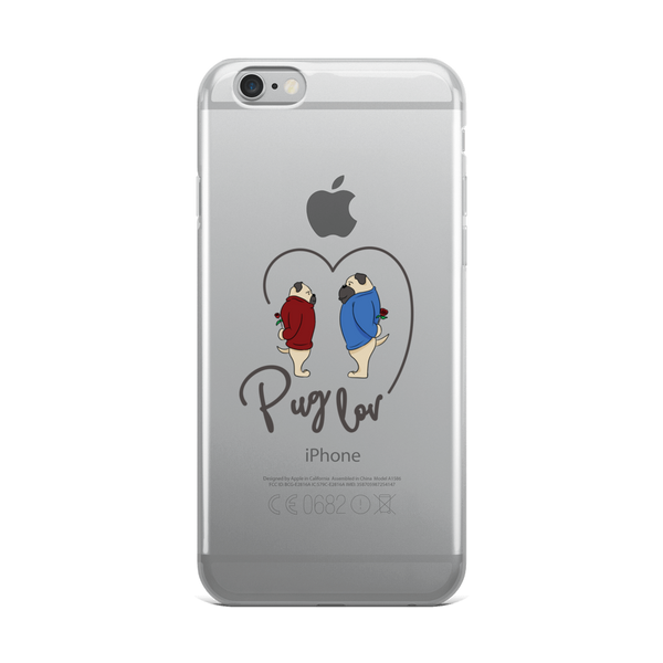Pug love05 iPhone Case