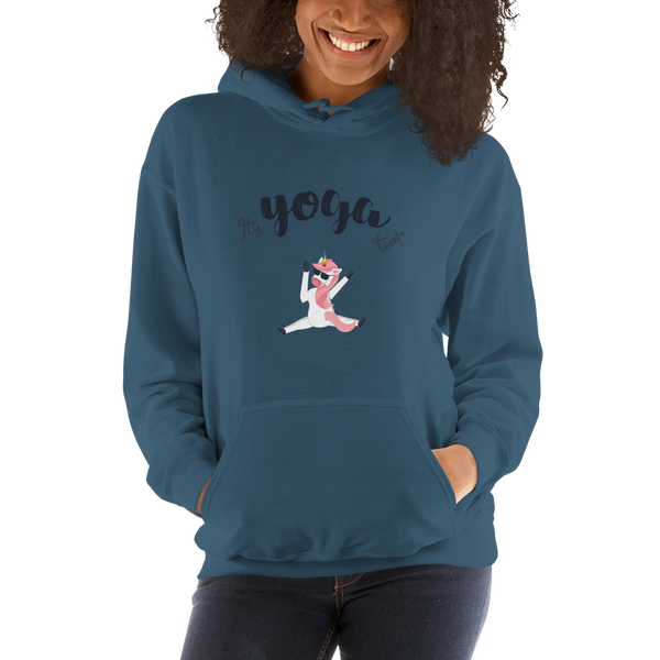 It's Yoga Time016 Gildan 18500 Unisex Heavy Blend Hooded Sweatshirt Heavy blend