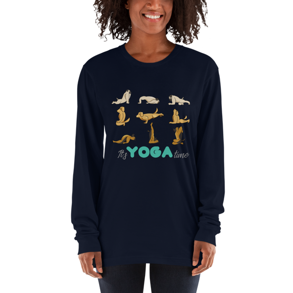 It's Yoga Time027 American Apparel 2007 Unisex Fine Jersey Long Sleeve T-Shirt Comfy style