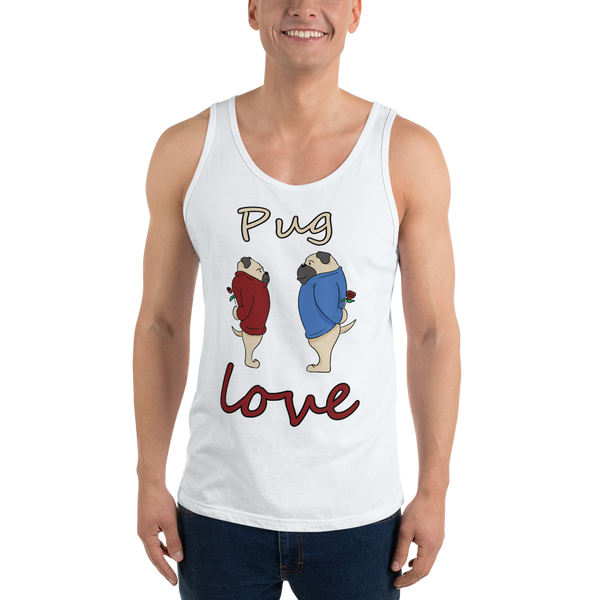 Pug love08 Bella + Canvas 3480 Unisex Jersey Tank with Tear Away Label