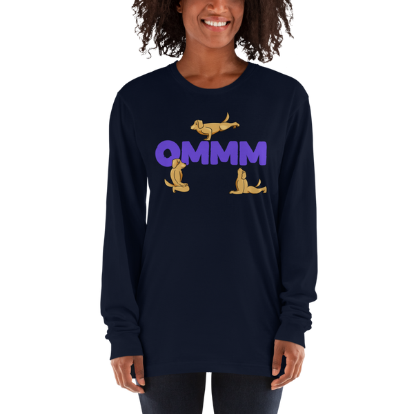 It's Yoga Time028 American Apparel 2007 Unisex Fine Jersey Long Sleeve T-Shirt Comfy style