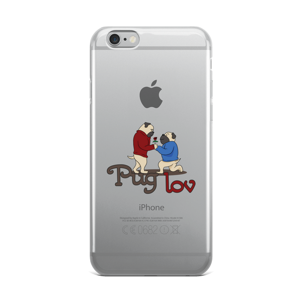 Pug love04 iPhone Case