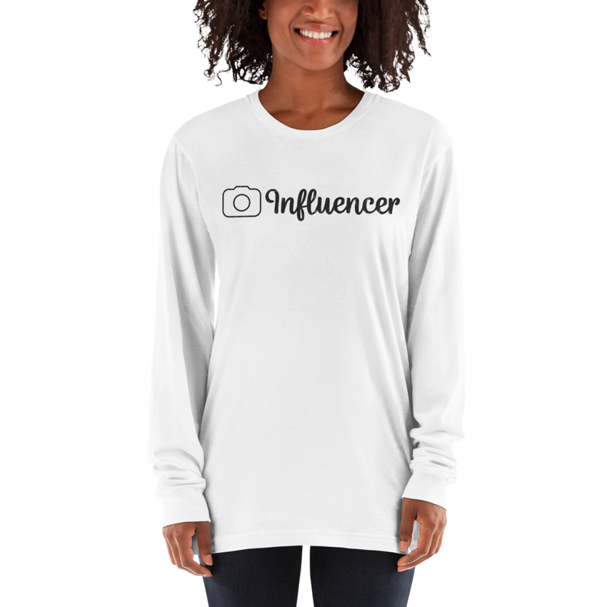 Influencer99 American Apparel 2007 Unisex Fine Jersey Long Sleeve T-Shirt Comfy style