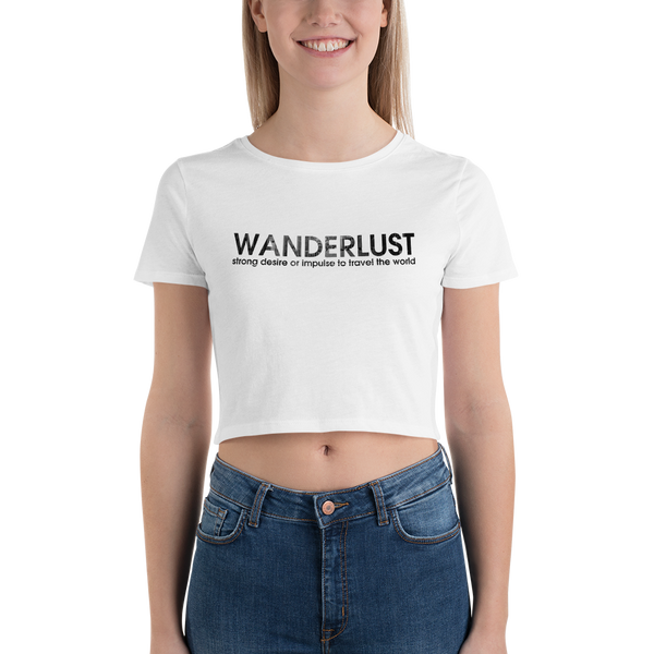 Wanderlust44 Bella + Canvas 6681 Women's Crop Tee Tight fit