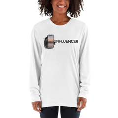 Influencer100 American Apparel 2007 Unisex Fine Jersey Long Sleeve T-Shirt Comfy style