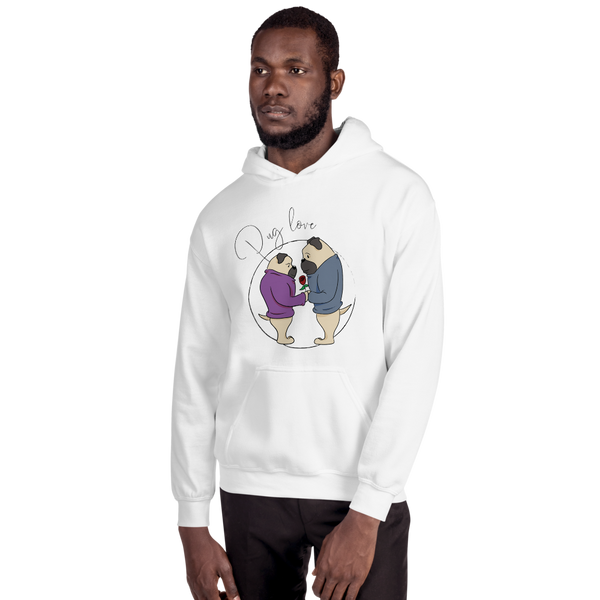 Pug Love09 Gildan 18500 Unisex Heavy Blend Hooded Sweatshirt