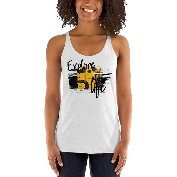 Explore Life004 Next Level 6733 Ladies' Triblend Racerback Tank