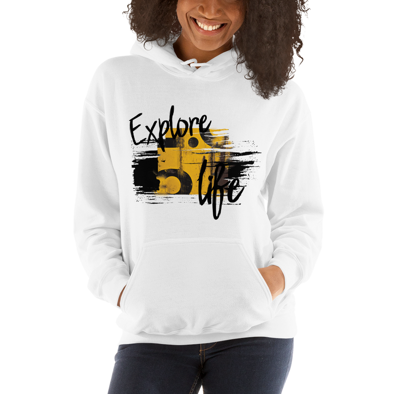 Explore Life004 Gildan 18500 Unisex Heavy Blend Hooded Sweatshirt