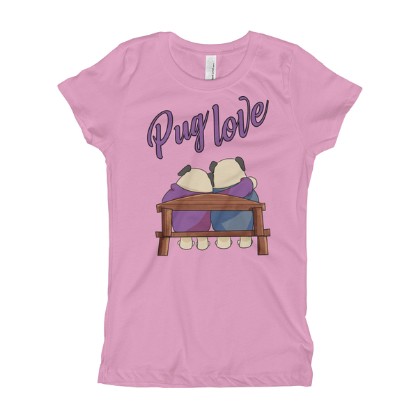 Pug Luv10 Girl's T-Shirt
