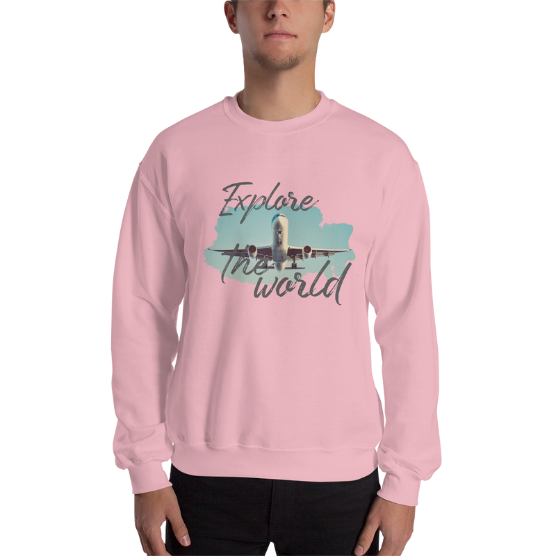 Explore The World002 Sweatshirt Gildan 18000 Unisex Heavy Blend Crewneck Sweatshirt