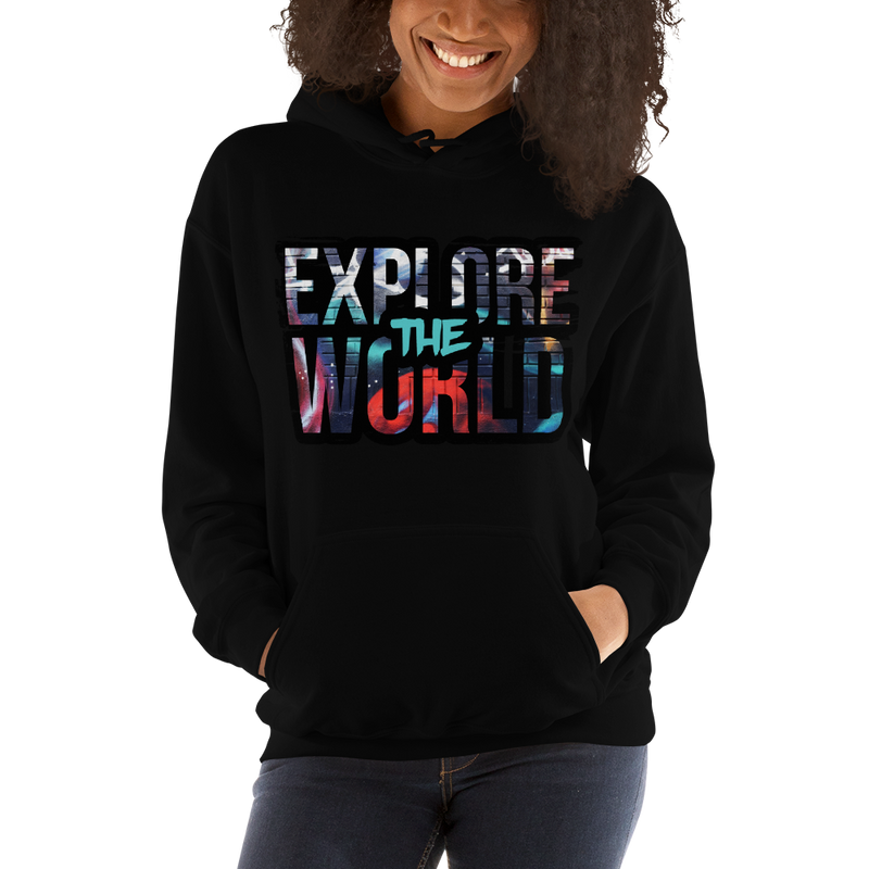 Explore The World0022 Gildan 18500 Unisex Heavy Blend Hooded Sweatshirt