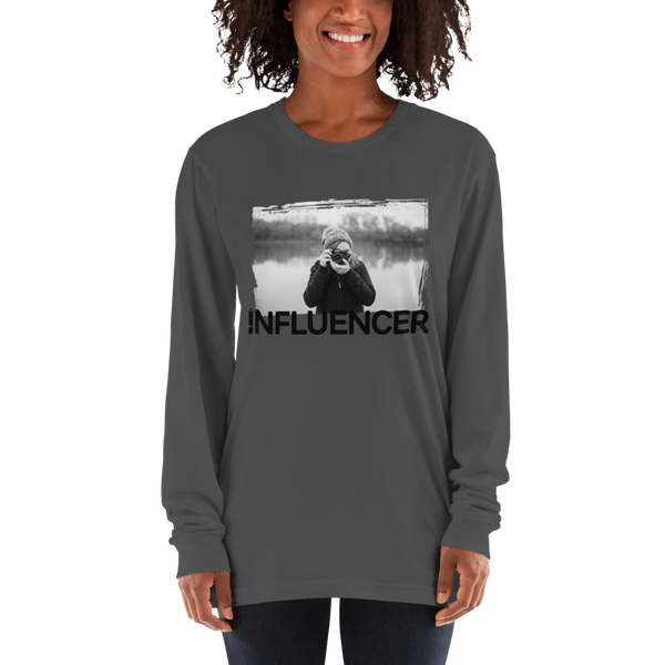 Influencer65 American Apparel 2007 Unisex Fine Jersey Long Sleeve T-Shirt Comfy style