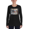 Explore The World0020 Long Sleeve Anvil 884L Women's Lightweight Long Sleeve Tee with Tear Away Label