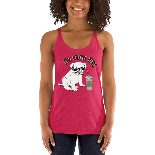 Its Coffee Time059 Women's Racerback Tank