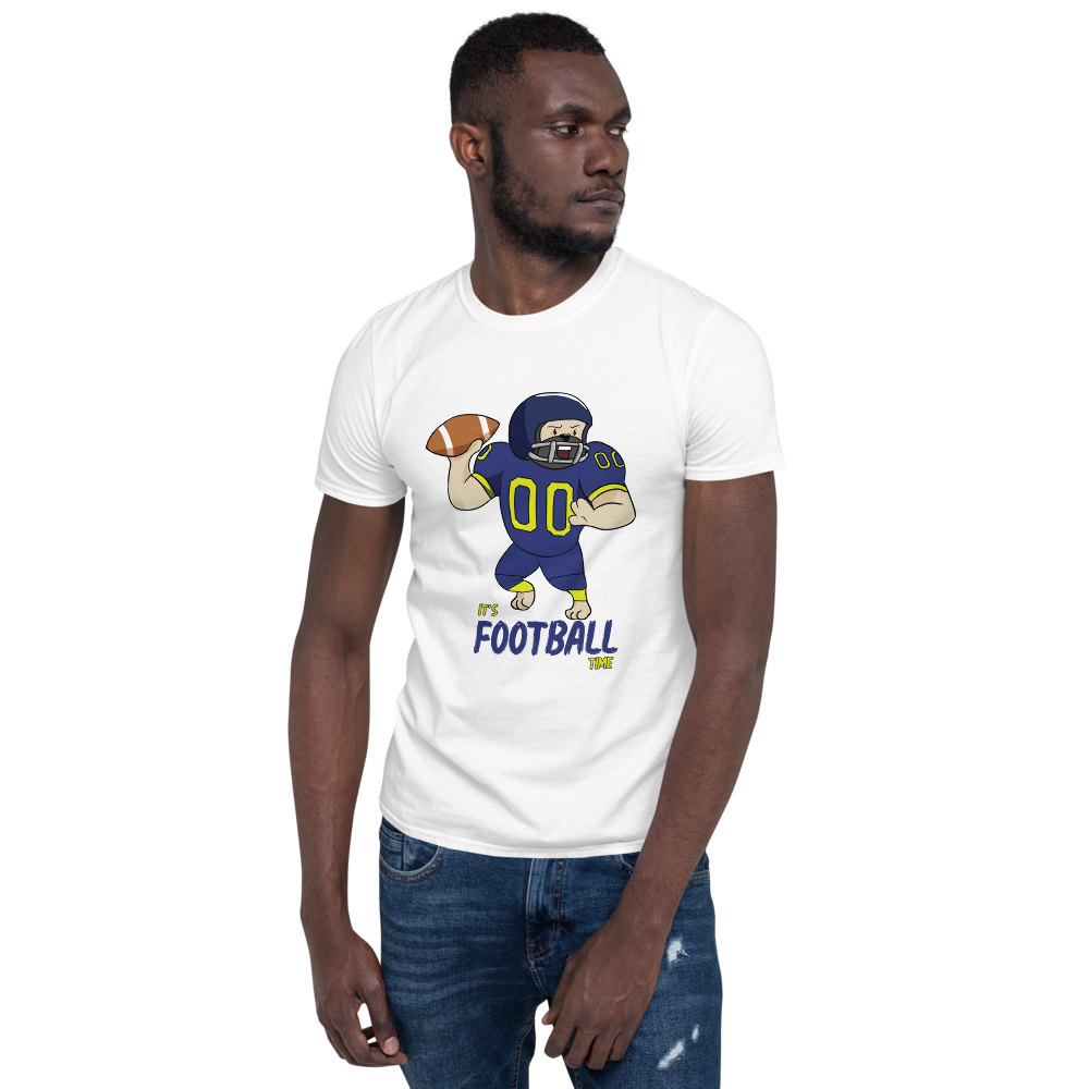 It's Football Time01 Gildan 64000 unisex softstyle Softsyle