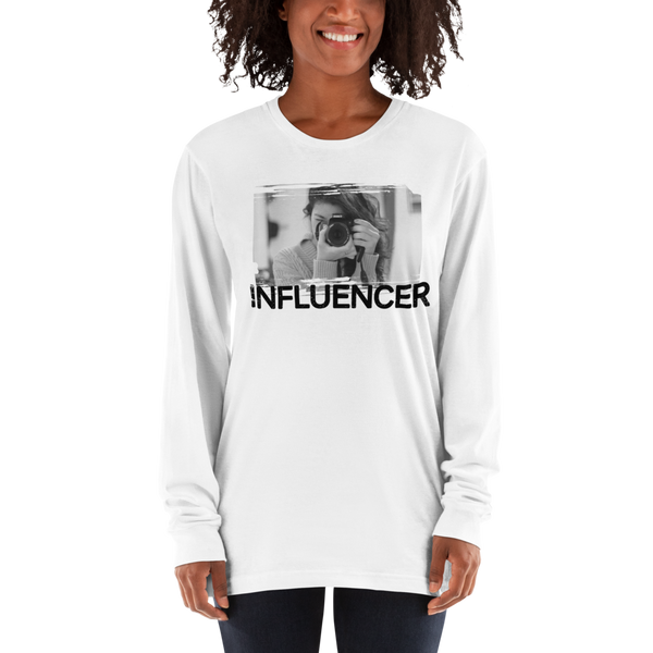 Influencer60 American Apparel 2007 Unisex Fine Jersey Long Sleeve T-Shirt Comfy style