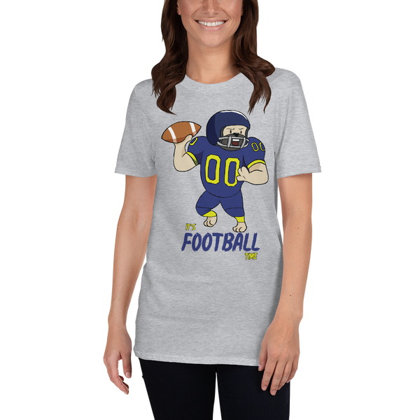 It's Football Time01 Gildan 64000 unisex softstyle Softstyle