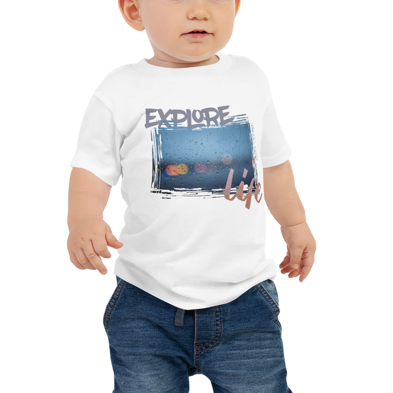Explore Life001 Bella + Canvas 3001B Baby Jersey Short Sleeve Tee with Tear Away Label