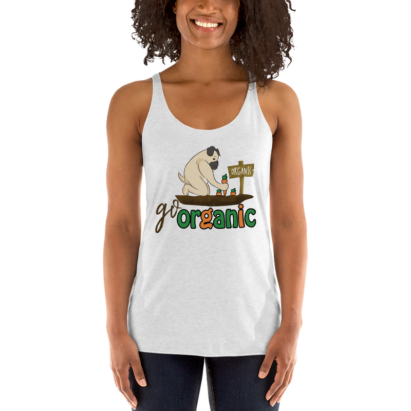 Go Organic001 Next Level 6733 Ladies' Triblend Racerback Tank