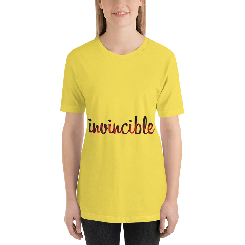 Invincible018 Bella + Canvas 3001 Unisex Short Sleeve Jersey T-Shirt with Tear Away Label
