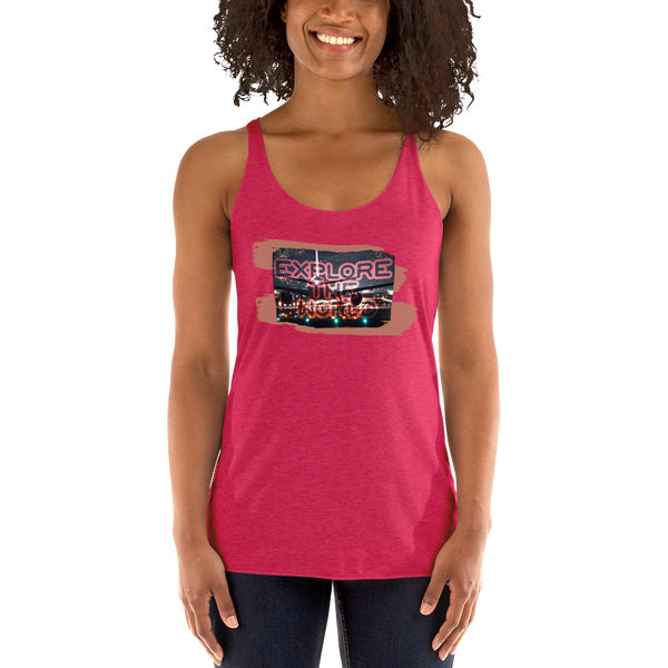 Explore The World0026 Next Level 6733 Ladies' Triblend Racerback Tank