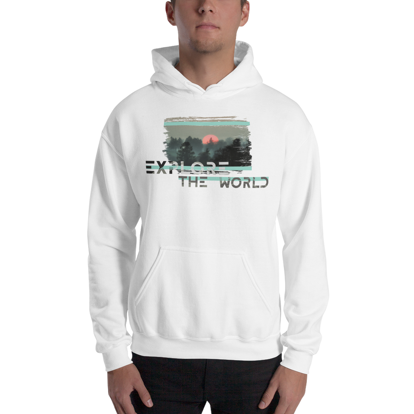 Explore The World0021 Hoodie Gildan 18500 Unisex Heavy Blend Hooded Sweatshirt