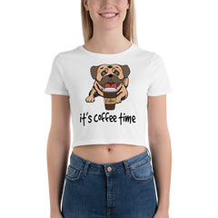 Its Coffee Time020 Women's Crop Tee