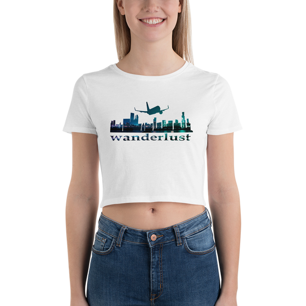 Wanderlust51 Bella + Canvas 6681 Women's Crop Tee Tight fit